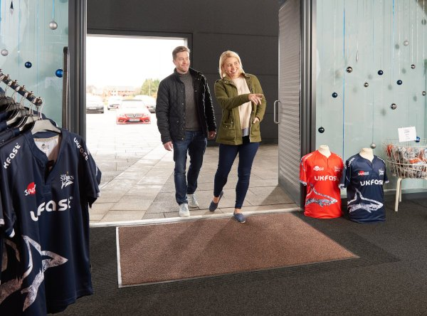 Morland Access Duo at a sports store entrance