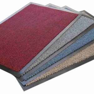 Four, red, grey, blue, brown, Morland Elemental PVC Industrial Doormat on a white background