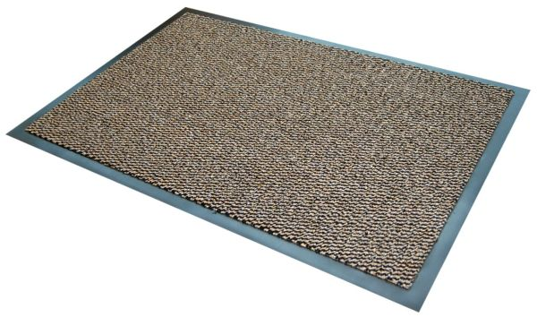 Morland Elemental Brown PVC School Doormat on a white background