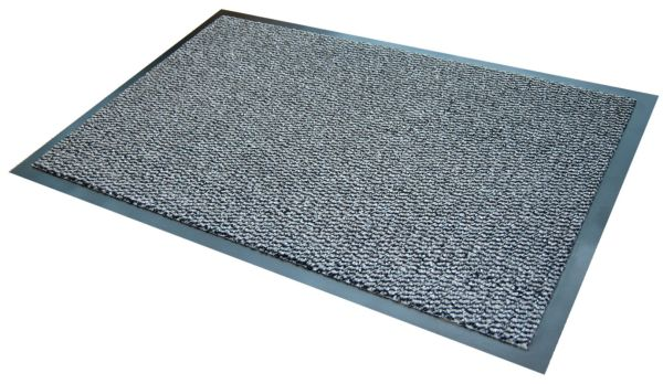 Morland Elemental Grey PVC Shop Doormat on a white background