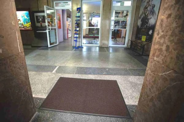 Morland Access doormat in brown in a commercial shopping mall