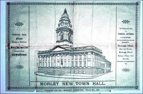 The original design for Morley Town Hall