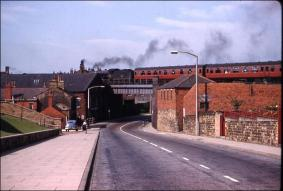 View from Bridge Street as a train approaches Morley Top Station