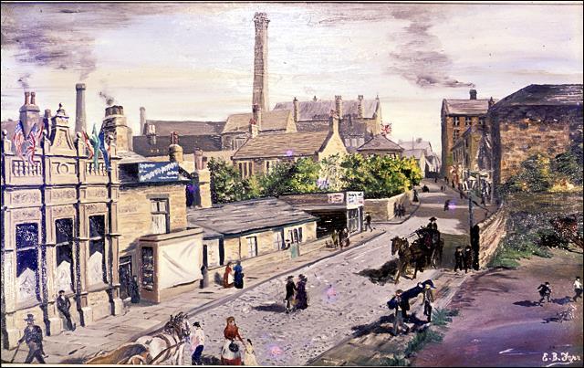 Painting of Queen Street at the time of Queen Victoria's Golden Jubileet