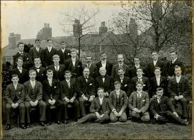 A group of young men at Drighlington Zion Church