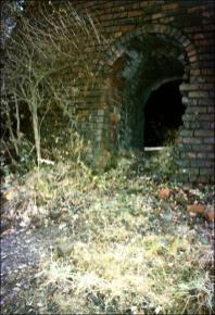 Ruins of a brick kiln at old Churwell brickworks (Fittons), Tanhouse Yard, Churwell