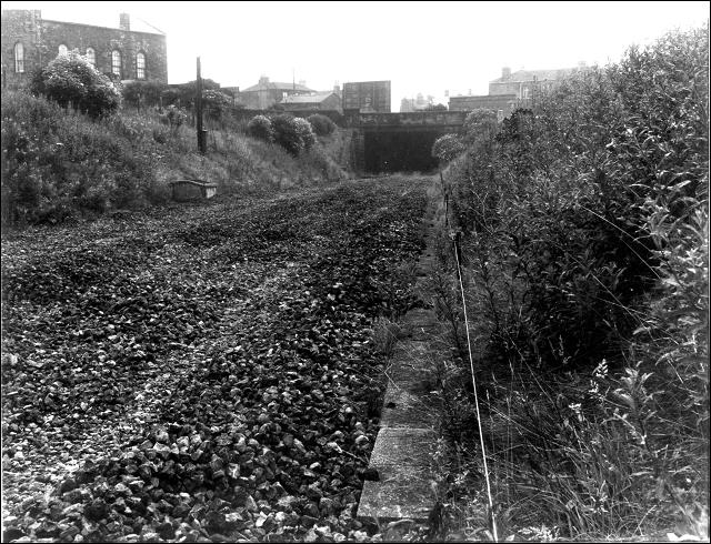 Bed of the railway line near to Gildersome crossroads