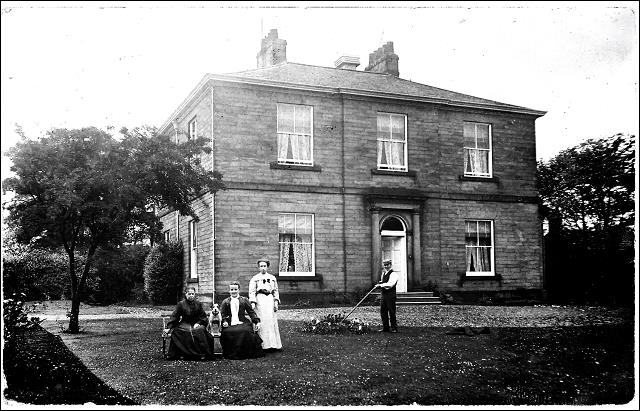 View of the house and garden of Wellfield House