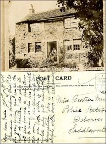 1904 postcard listing 'The oldest house in Morley'