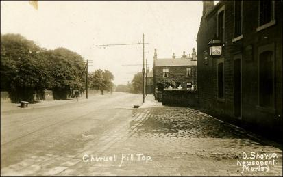 The view to Churwell frorm The Prospect on Victoria Road