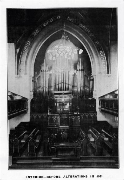 Organ of St Mary's in the Wood Church before alterations in 1921