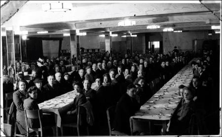 Workers of A M Marshall Mills, at a formal dinner