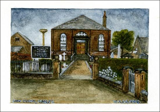 Water colour of Old Morley Zion Chapel