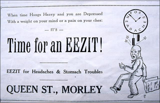 Advert for Eezit Powders