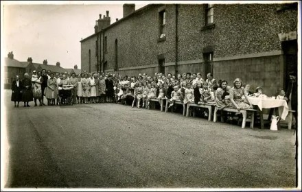 End of the war V.E. party at Gilroyd Terrace, Morley