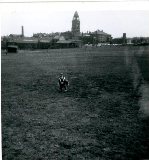 Toddler Paul Jamieson in Scatcherd Park, Morley