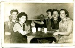 Tea break of workers in the canteen at Park Mills