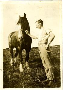 Alfred Hornsby and his horse