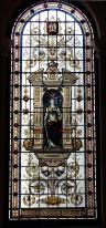 Stained glass window of William Middlebrook in Morley Town Hall