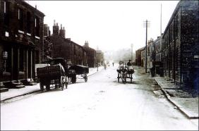King Street, Drighlington scene looking towards Morley