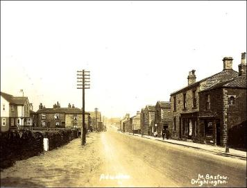 Postcard showing King Street looking towards the Crossroads