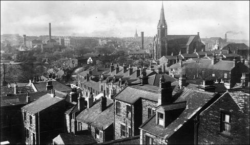 Looking over Queen Street towards St Mary's