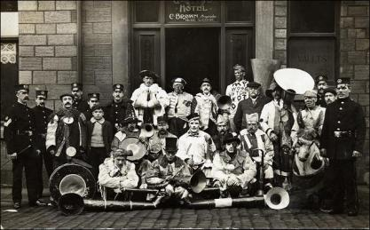 Carnival Band outside the Queen's Hotel