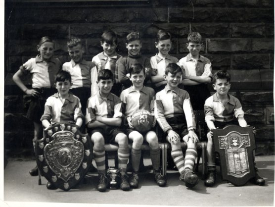 Cross Hall School Football team and their trophies