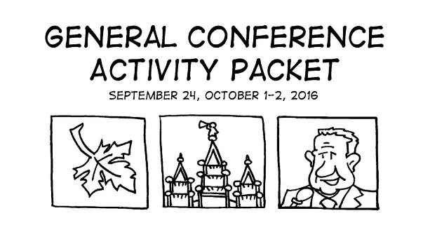 FREE LDS General Conference Activity Packets