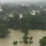 Houston Texas Temple is Surrounded by Water after Record Breaking Flood