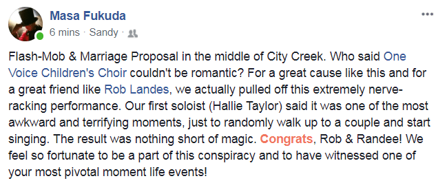 Rob Landes Wedding Proposal