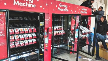 #LightTheWorld Giving Machines