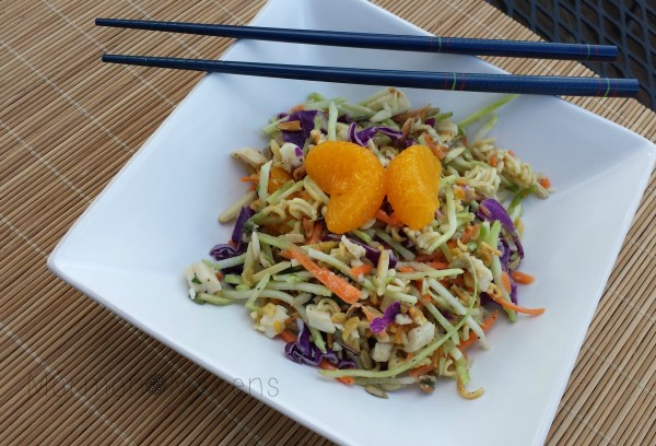 Oriental Chicken Salad with Crunchy Noodles
