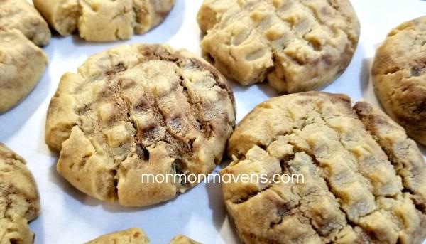 nutella peanut butter cookies