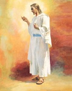 Christ on orange