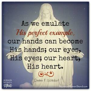 we can emulate Jesus' example