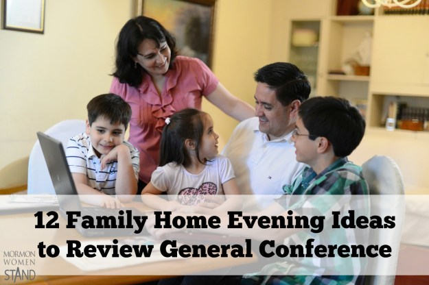 Family home evening ideas to review General Conference with your family. Start planning your next lesson now!