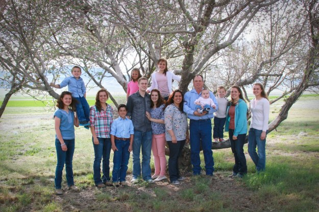 family with eleven children and a son-in-law