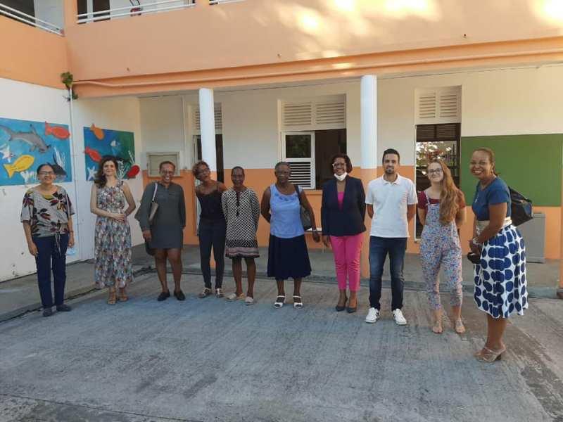 Visite des élus à l'école du bourg