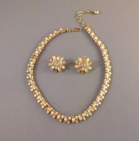 TRIFARI clear rhinestone necklace and earrings - Morning ...