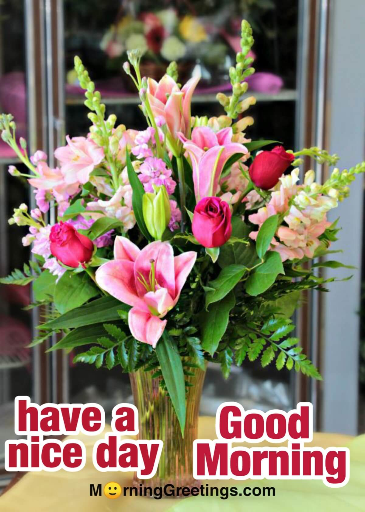 20 Morning Greeting With Bouquet Morning Greetings Morning Wishes