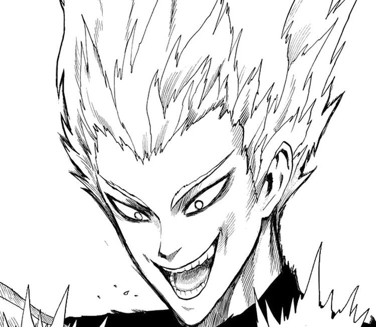 Coloring page One Punch Man : Garou 8
