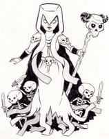 Desenho para colorir Bruxa