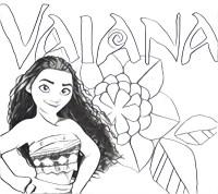 Disegno da colorare Oceania : Vaiana 11