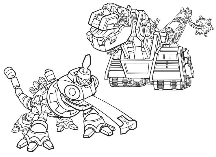 Disegno da colorare Dinotrux 3