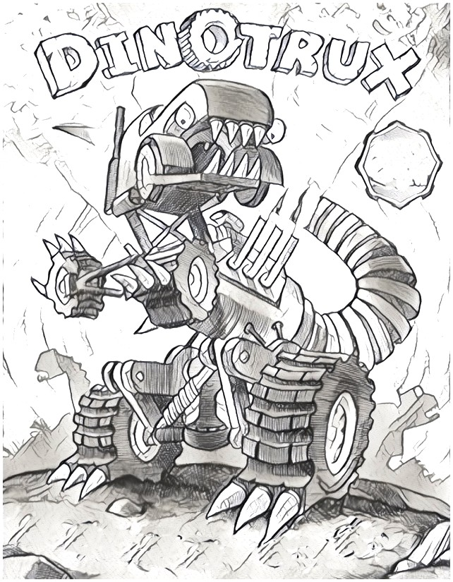Dibujo para colorear Dinotrux 4