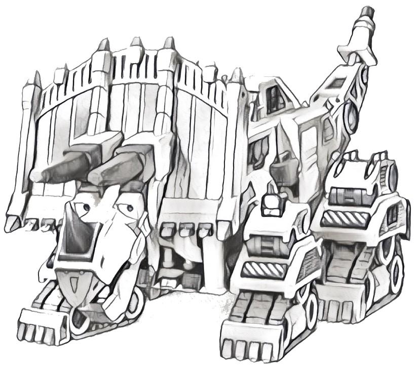 Dibujo para colorear Dinotrux 5