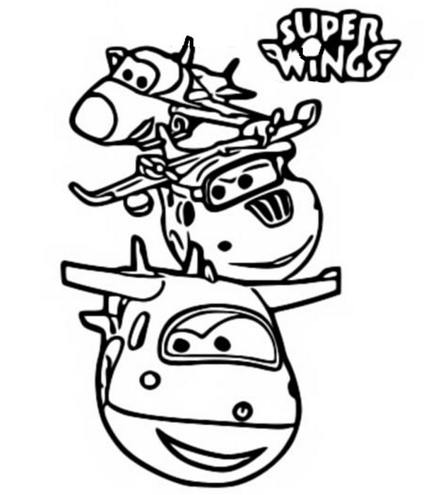 Disegni Da Colorare Super Wings