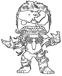 Dibujo Para Colorear Funko Pop Marvel Venom Hulk 7
