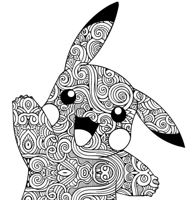 Malvorlagen Pikachu  Zentangle Pikachu 10